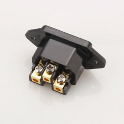 HI-End Gold Plated Copper AC IEC Inlet Socket