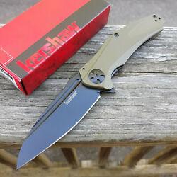 Kershaw Natrix XL Folding Knife 3.75quot; 8Cr13MoV Stainless Blade Green G10 Handle $34.49