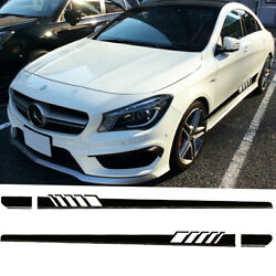 Black Side Skirt Stripes Decal Racing Trim for Mercedes Benz C250 C300 63 AMG $25.99
