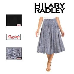 SALE Hilary Radley Womens Skirt Midi Length With Tummy smoothing features C12 $12.95