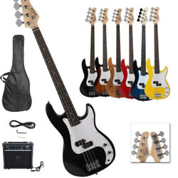 New Professional 7 Colors 4 String GP Glarry Electric Bass Guitar with 20W AMP $108.97