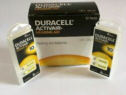 Duracell Activair Hearing Aid Batteries Size 10 Exp 2022 - 8 to 240 Batteries