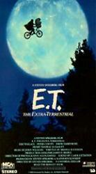 E.T. The Extra-Terrestrial (VHS) RARE Collectible Black & Green Tape.