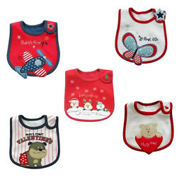 Baby Waterproof Bibs w Holiday Designs 4th Christmas Valentine $12.35