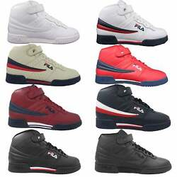 Fila Mens F13 F 13 Leather High Mid Top Casual Classic Basketball Shoes $44.90