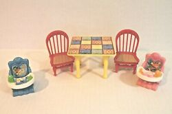 Fisher Price Loving Family Dollhouse Dining Table with 2 Red Chairs amp; Baby Seats $22.00