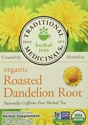 NEW Traditional Medicinals Organic Roasted Dandelion Root Naturally Caffeine Tea $9.19