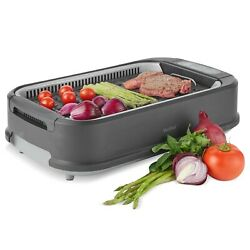 VonShef Smokeless Grill Electric Indoor Barbecue BBQ Non Stick Griddle 1500W $79.99