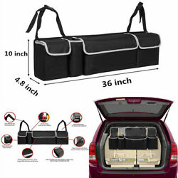 Black High Capacity Multi-use Car Trunk Back Seat Organizers Bag Accessories