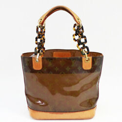 LOUIS VUITTON M92502 Chain Tote Hand Bag Cabas Amble PM PVC Vinyl Leather