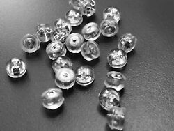 20 pcs Earring Backing Silver Tone Jewelry Posts Stopper Silicone Copper 75x $6.50