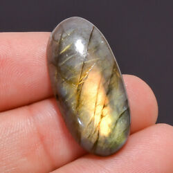 22.25 Ct 100% Natural Labradorite Oval Cabochon Loose Gemstone 29X14X7 mm JM-375