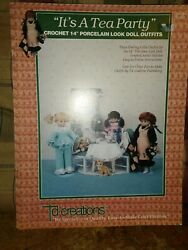 Its A Tea Party 14quot; Doll Crochet Pattern Book $6.50