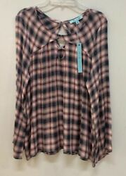NTW She + Sky Women's (Bootcut Long Sleeve) Blouse Top Size Small Brand New!