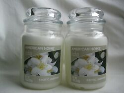 Lot of 2 American Home by Yankee Candle Exotic Jasmine Candle Brand New 19 oz ea