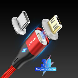3A Magnetic LED USB Type C Micro Fast Data Sync Charging Charger Phone Cable New $4.99