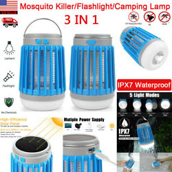 Solar USB Mosquito Killer Light Electric Trap Lamp Fly Bug Zapper Pest Control $19.99