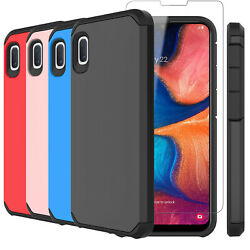 For Samsung Galaxy A10e Shockproof Case Cover W Tempered Glass Screen Protector
