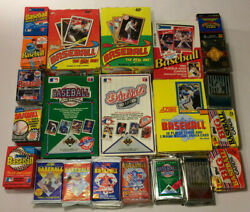 Old Vintage Baseball Cards In Unopened Packs From Wax Box 100 Card Lot 1987 95 $11.50