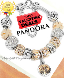 Authentic Pandora Bracelet Silver Gold