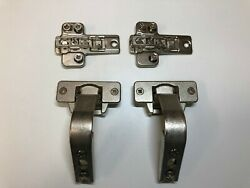 Pair Mepla Pie Cut Corner Hinges (#699.299.05.00) with mounting plates