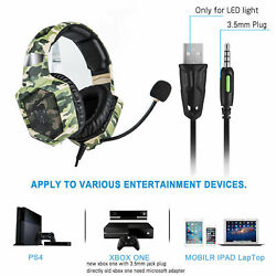 US Camouflage ONIKUMA K8 Usb Gaming Headset Headphone PS4 XBox Switch 3.5MM MIC