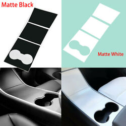 Matte Decal For 17-19 Tesla 3 Center Console Inner Cover Stickers Vinyl Wrap Kit