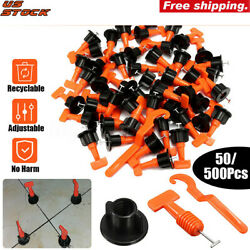 50x Flat Ceramic Floor Wall Construction Tools Reusable Tile Leveling System Kit $19.98