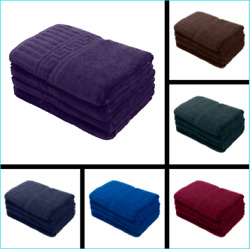 Silver Grey Large Bath Towels Packs Sets 100% Cotton 27