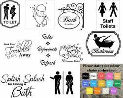 Wall art stickers for bathroom toilet Home decor quality vinyl decal quotes GBP 4.99