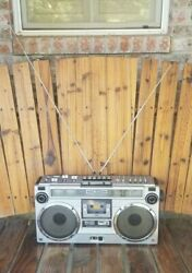 Sharp GF-9191H - stereo boombox ghettoblaster from the 80s!!  RARE!