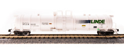 BROADWAY LIMITED 3724 2-pack N SCALE Cryogenic Tank Car Linde  2 CAR SET