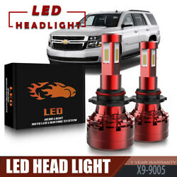 2Pcs 4-Side 9005 13200LM 120W LED Headlight Bulb Kit For 2007-2019 Chevy Tahoe