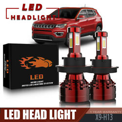 TURBOSII 4-Sides H13 LED Headlight Bulb 13200LM 120W For 2007-2010 JEEP Compass