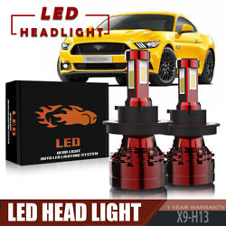 TURBOSII 4-Sides H13 LED Headlight Bulb 13200LM 120W For 2005-2012 FORD Mustang