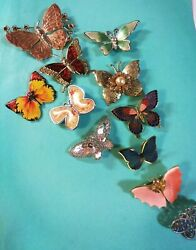 Gorgeous Vintage To Now Lot Of Colorful Butterflies