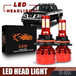 120W 13200LM 4 Sides 9004 LED Headlight Bulb Kit For 1998-2000 NISSAN Frontier
