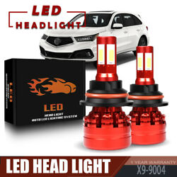 2×13200LM 120W 4 Sides 9004 LED Headlight Bulb For 1993-1998 JEEP Grand Cherokee