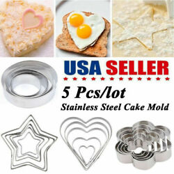 Stainless Steel Fondant Mold Heart Shaped Candy Chocolate Baking Mould Decor US
