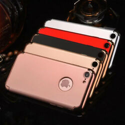 360° Shockproof Ultra-thin Electroplate Hard Back Case Cover For  iPhone 8 7