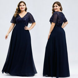 Ever Pretty Plus Cocktail Party Dress Applique Mother Of Bride Formal Gown 07706 $38.99