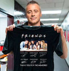 Friends Tv Show Thank You For The Memories Signature Tee Shirt