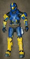 Halo Reach Infection SPARTAN ODST Yellow & Blue Rare Action Figure McFarlane