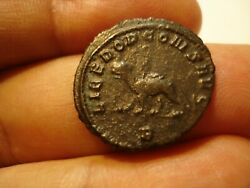 ANCIENT  ROME  GALLIENUS   SILVER ANT  O. RADIATE HEAD R. PANTHER