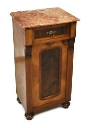19Th C. Continental Empire Bedside Cabinet antique nightstand side end table $1150.00