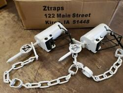 2 White Z Trap Dog Proof Trap DP Trap Push and Pull Trigger
