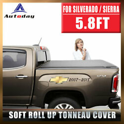 Fit Chevrolet Silverado 1500 6.5ft Bed SOFT ROLL UP w Lock Tonneau Cover