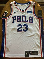 Philadelphia 76ers Sixers Jimmy Butler White Large 48 Nike NBA Swingman Jersey