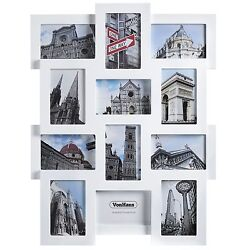 VonHaus 12x Collage Picture Photo Frames Family Home Wall Hanging 4x6 White $17.99