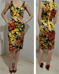 AUTH Dolce&Gabbana multicolor floral Printed dress 38